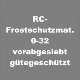 RC-Frostschutzmaterial 0-32 vorabgesiebt, gütegeschützt