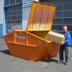 7 cbm Absetzcontainer mit Deckel für (Baumischabfall)