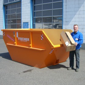 7 cbm Absetzcontainer für (Holz A4)
