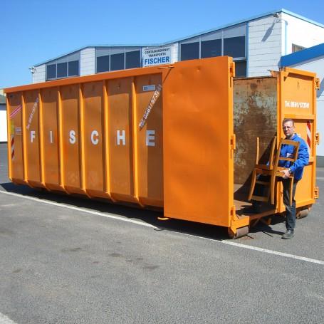30 cbm Abrollcontainer für (Mineralfaser / Dämmwolle)